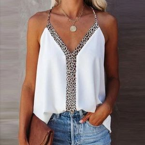 Leopard On The Loose Tank Top